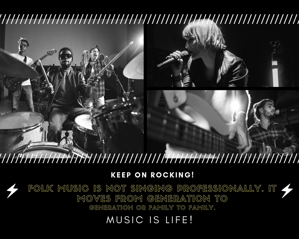 Top Folk music is not singing professionally. It moves from generation to generation or family to family.lk music