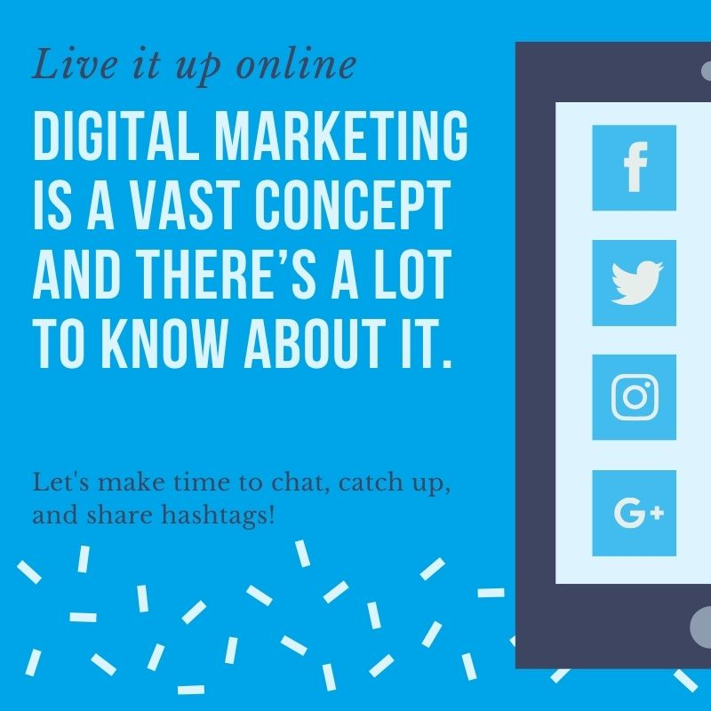 Digital marketing is the use of the internet to reach customers.